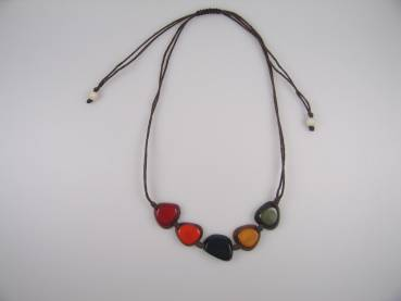 Annikita Kette colour aus Tagua, Fair Trade Kolumbien