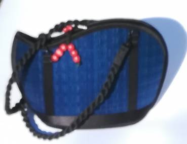 Tasche Wave blau - aus Seegras, Fair Trade