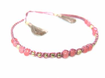 Armband Fiting rosa aus Edelsteinen, Fair Trade Indonesien