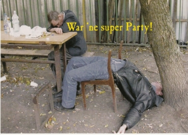 War 'ne super Party! - Postkarte