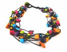 Collier bunt -  aus Tagua Bits, Fair Trade Schmuck